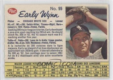 1962 Post Canadian #55 - Early Wynn