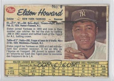 1962 Post Canadian #8 - Elston Howard