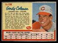 Gordy Coleman [EX]