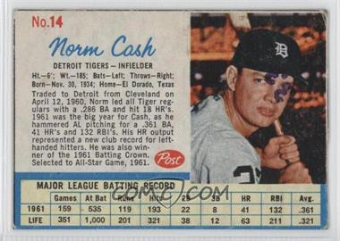 1962 Post #14 - Norm Cash