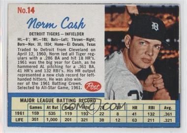 1962 Post #14.1 - Norm Cash