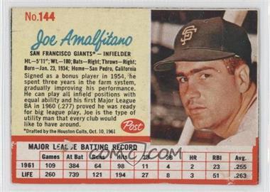 1962 Post #144 - Joey Amalfitano