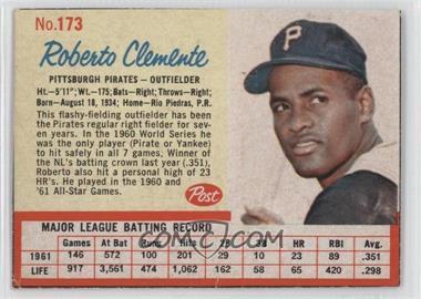 1962 Post #173 - Roberto Clemente