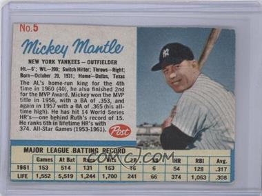 1962 Post #5 - Mickey Mantle