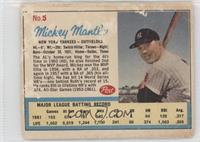 Mickey Mantle Post logo on back [Poor]
