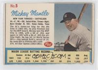 Mickey Mantle Post logo on back [Authentic]