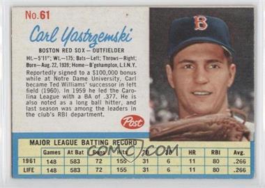 1962 Post #61 - Carl Yastrzemski
