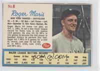 Roger Maris Post logo on back