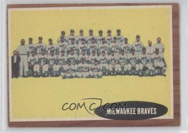 1962 Topps - [Base] #158.1 - Milwaukee Braves Team
