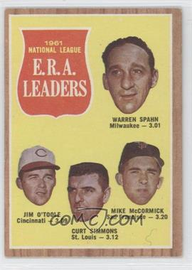 1962 Topps - [Base] #56 - 1961 National League E.R.A. Leaders (Warren Spahn, Jim O'Toole, Curt Simmons, Mike McCormick)