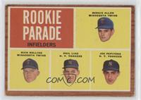 Rookie Parade - Bernie Allen, Rich Rollins, Phil Linz, Joe Pepitone [Good …