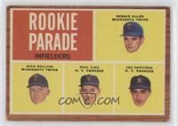 Rookie Parade - Bernie Allen, Rich Rollins, Phil Linz, Joe Pepitone [Good…