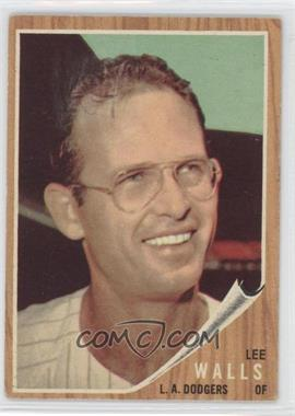 1962 Topps #129.2 - Lee Walls (In pinstripe jersey, Green Tint)