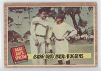 Babe and Mgr. Huggins (Babe Ruth, Miller Huggins) (Green Tint) [Poor to&nb…