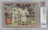 Babe and Mgr. Huggins (Babe Ruth, Miller Huggins) Green Tint [BVG 8]