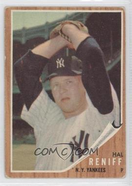 1962 Topps #139BG - Hal Reniff (Green Tint)