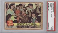 Greatest Sports Hero (Babe Ruth) (Green Tint) [PSA 7]