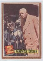 Farewell Speech (Babe Ruth) [GoodtoVG‑EX]