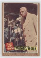 Farewell Speech (Babe Ruth) (Green Tint) [GoodtoVG‑EX]