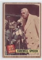 Farewell Speech (Babe Ruth) Green Tint [Good to VG‑EX]