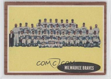 1962 Topps #158 - Milwaukee Braves Team