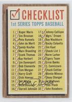 Checklist 1st Series (Error (121 - 176 on Back)) [Good to VG‑EX]