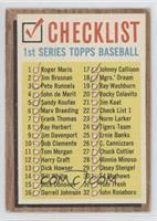Checklist 1st Series [GoodtoVG‑EX]