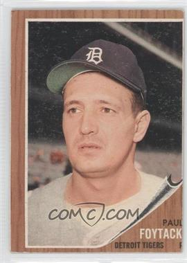 1962 Topps #349 - Paul Foytack