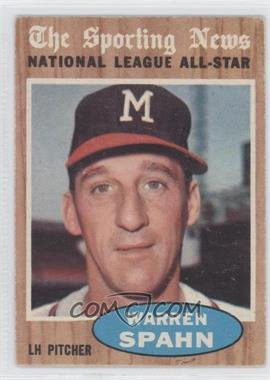 1962 Topps #399 - Warren Spahn (All-Star)