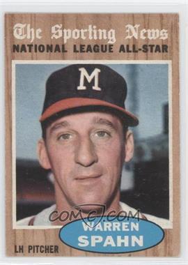 1962 Topps #399 - Warren Spahn (All-Star)