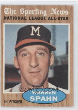 1962 Topps #399 - Warren Spahn