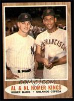 AL & NL Homer Kings (Roger Maris, Orlando Cepeda) [EX]