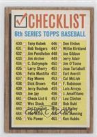 Checklist (LARGE Print)