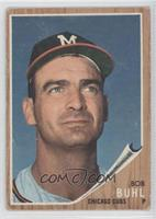 Bob Buhl (Braves M on cap) [Good to VG‑EX]