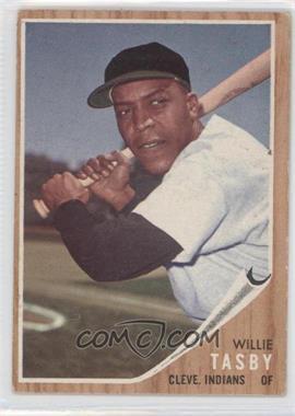 1962 Topps #462.2 - Willie Tasby (No logo on cap)