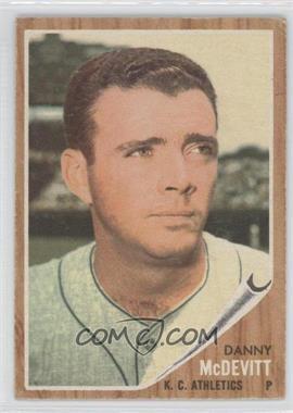 1962 Topps #493 - Danny McDevitt
