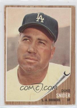 1962 Topps #500 - Duke Snider