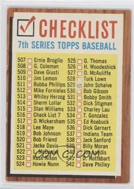 1962 Topps #516.1 - Check List 7 (White check boxes)