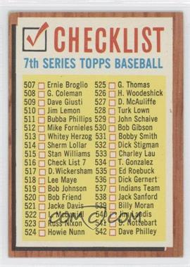 1962 Topps #516.1 - Check List 7 (White check boxes)