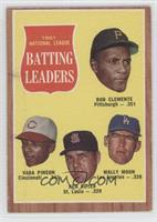 1961 National League Batting Leaders (Bob Clemente, Vada Pinson, Ken Boyer, Wal…