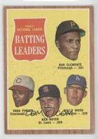 1961 National League Batting Leaders (Bob Clemente, Vada Pinson, Ken Boyer, Wal…