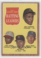 National League Batting Leaders (Bob Clemente, Vada Pinson, Ken Boyer, Wally Mo…