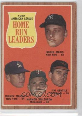 1962 Topps #53 - 1961 American League Home Run Leaders (Roger Maris, Mickey Mantle, Harmon Killebrew, Jim Gentile) [Good to VG‑EX]