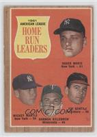 1961 American League Home Run Leaders (Roger Maris, Mickey Mantle, Harmon Kille…