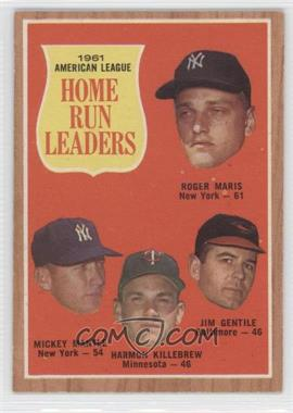 1962 Topps #53 - 1961 American League Home Run Leaders (Roger Maris, Mickey Mantle, Harmon Killebrew, Jim Gentile)
