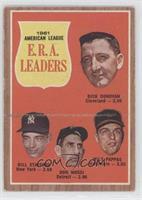 1961 Americal League E.R.A. Leaders (Dick Donovan, Bill Stafford, Don Mossi, Mi…