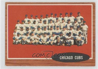 1962 Topps #552 - Chicago Cubs Team