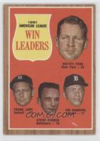 1961 Americal League Win Leaders (Whitey Ford, Frank Lary, Steve Barber, Jim Bu…
