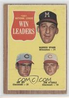 1961 National League Win Leaders (Warren Spahn, Joe Jay, Jim O'Toole) [Good&nbs…