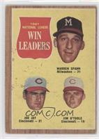 1961 National League Win Leaders (Warren Spahn, Joe Jay, Jim O'Toole) [Good&nbs…